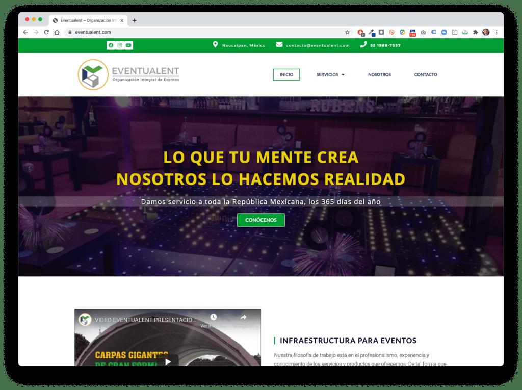 eventualent - Galería de Sitios Web