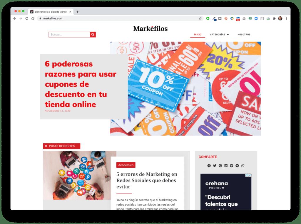 markefilos - Galería de Sitios Web