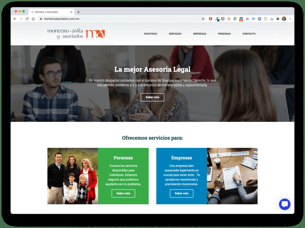 montero y asociados - Galería de Sitios Web
