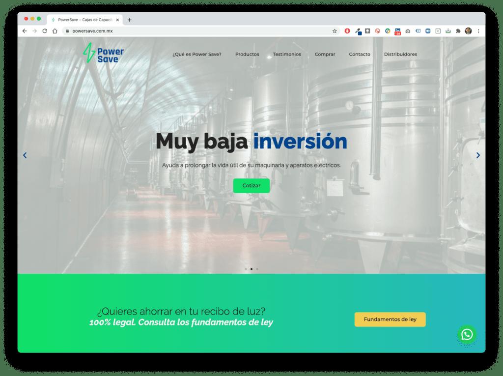 power save - Galería de Sitios Web