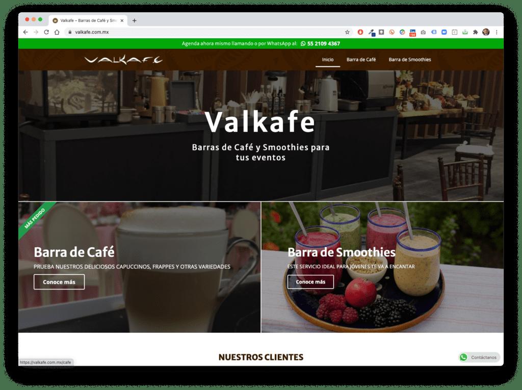 valkafe - Galería de Sitios Web