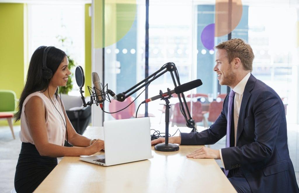 Entrevista en un podcast